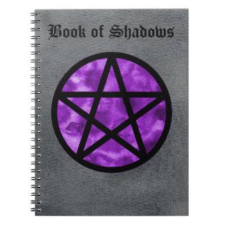影のノート2の紫色の星形五角形の本 ノートブック