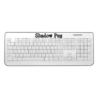 影のパグの無線電信のキーボード ワイヤレスキーボード