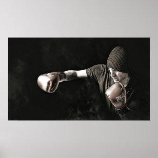 影のボクサーの訓練 ポスター