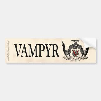 影の灰色のVampyrの頂上 バンパーステッカー