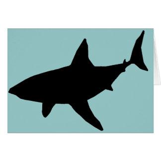 影の鮫の空白のなカード カード