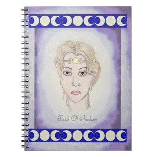 影のArtemisの月の女神の三倍の月の本 ノートブック