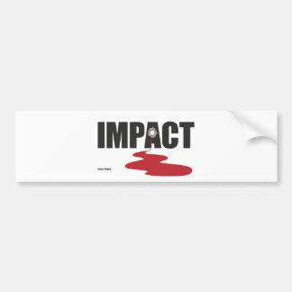 影響-血の影響のフォント! バンパーステッカー