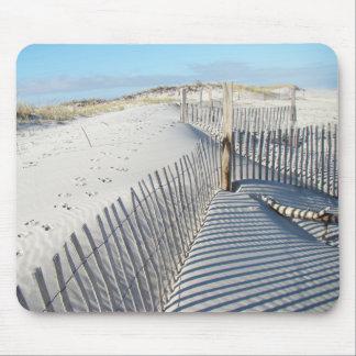 影、砂丘および塀 マウスパッド