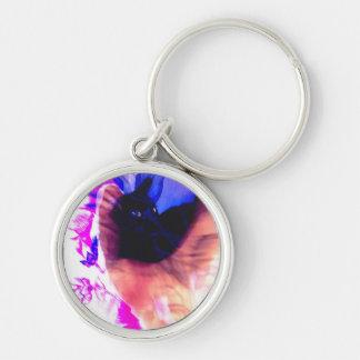影Keychainの黒猫 キーホルダー