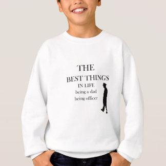 役人があっているパパがある生命の最も最高のな事 スウェットシャツ