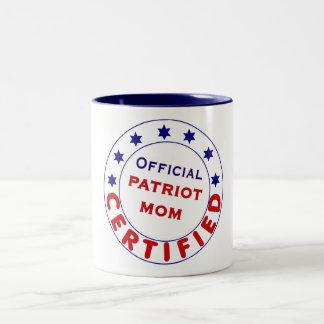 役人によって証明される愛国者のお母さんのマグ ツートーンマグカップ