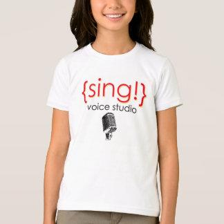 役人は声のスタジオの服装を歌います Tシャツ