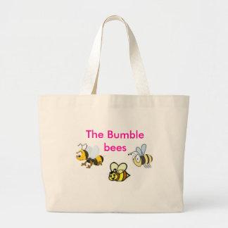 役人は蜂のバッグをブンブンいう音 ラージトートバッグ