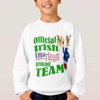 役人ニューヨークのアイルランドのアメリカの飲むチーム スウェットシャツ