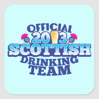 役人2013のスコットランドの飲むチーム スクエアシール