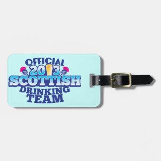 役人2013のスコットランドの飲むチーム ラゲッジタグ