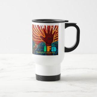 """役人""""IFA""""の(インターナショナルの素晴らしい芸術家の旗)マグ トラベルマグ"""