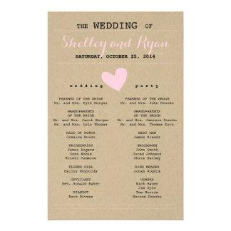 彼および彼女の結婚式プログラム チラシ