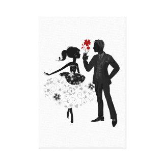 彼および彼女彼彼女のバレンタインデーの家の壁の芸術 キャンバスプリント