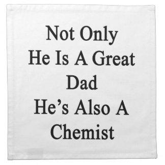 彼だけ彼がまた化学者のすばらしいパパです ナプキンクロス