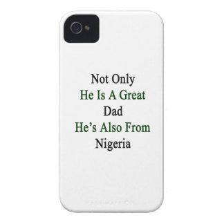 彼だけ彼によってがナイジェリアからまたあるすばらしいパパです Case-Mate iPhone 4 ケース