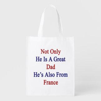 彼だけ彼によってがフランスからまたあるすばらしいパパです リユーザブルバッグ