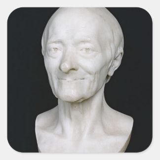 彼のかつらのないVoltaire、1778年のバスト スクエアシール
