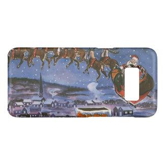 彼のそりを飛ばしているヴィンテージのクリスマスサンタクロース Case-Mate SAMSUNG GALAXY S8ケース