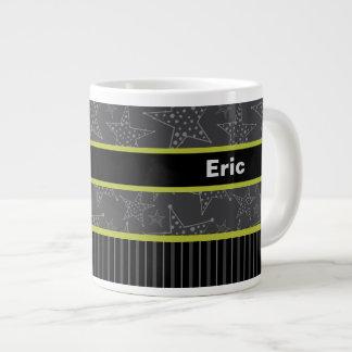彼のためのギフトのマグ、灰色名前入りな一流のマグ ジャンボコーヒーマグカップ