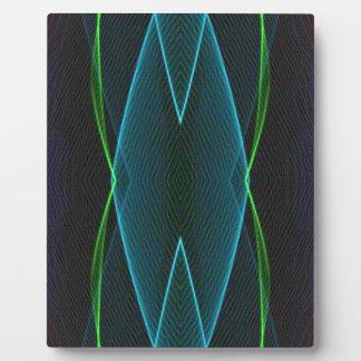 彼のためのクールなおもしろいの線形抽象芸術 フォトプラーク