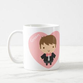 彼のためのタキシードのかわいい結婚式の新郎の男の子 コーヒーマグカップ