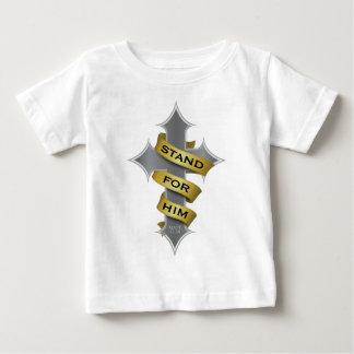 彼のための交差の立場 ベビーTシャツ