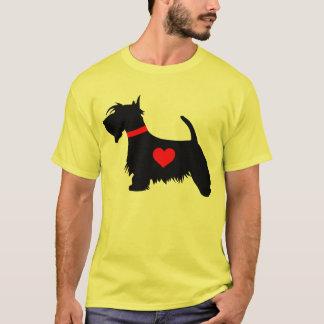 彼のための愛スコッチテリア犬のTシャツ Tシャツ