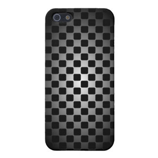 彼のための抽象的で黒く及び白いチェッカーボードの箱 iPhone 5 カバー