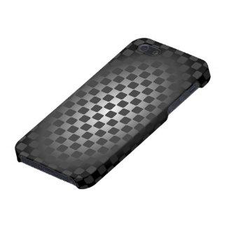 彼のための抽象的で黒く及び白いチェッカーボードの箱 iPhone 5 COVER