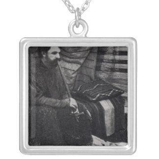 彼のシャイエンヌのテント小屋の喫煙のHamlinの花輪 シルバープレートネックレス
