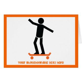 彼のスケートボードのカスタムのスケートボーダー カード