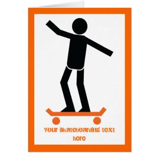 彼のスケートボードのカスタムのスケートボーダー グリーティングカード