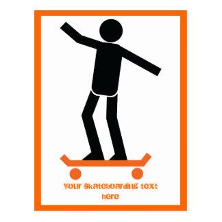 彼のスケートボードのカスタムのスケートボーダー ポストカード