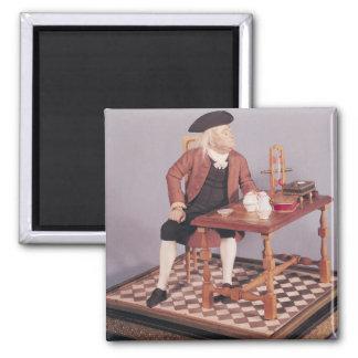 彼のテーブルのベンジャミン・フランクリンのモデル マグネット