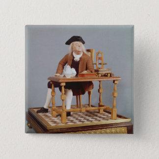 彼のテーブルのベンジャミン・フランクリンのモデル 5.1CM 正方形バッジ