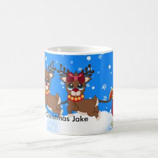 彼のトナカイのマグが付いているそりのあなたの一流のサンタ コーヒーマグカップ