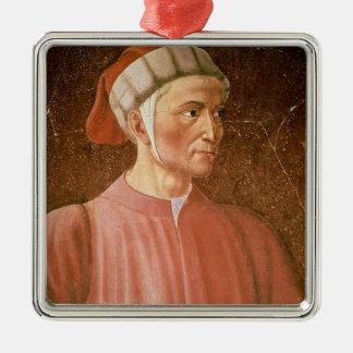 彼のバストのダンテ・アリギエーリの(1265-1321年の)詳細、fr メタルオーナメント
