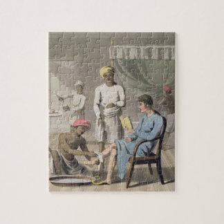 彼のヘッド持参人によって出席される紳士のドレッシング ジグソーパズル