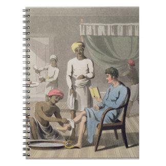 彼のヘッド持参人によって出席される紳士のドレッシング ノートブック