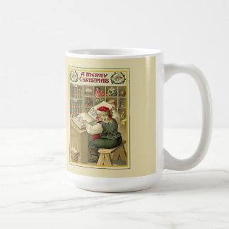 彼のリストのクリスマスのマグの点検 コーヒーマグカップ
