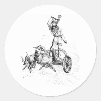 彼の一人乗り二輪馬車のトール ラウンドシール