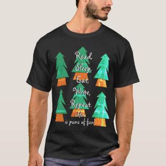 彼の作家の生命ワイシャツのためのおもしろいでカスタムなしゃれのギフト Tシャツ