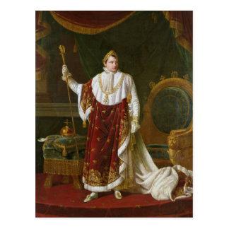 彼の即位ローブのナポレオンのポートレート ポストカード