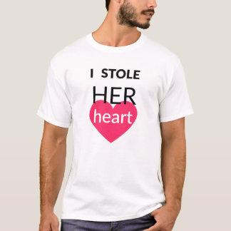 彼の及び彼女のカップルのティー(男性へ) Tシャツ