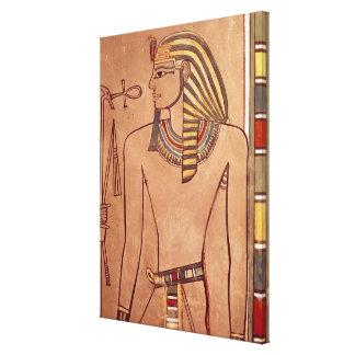 彼の唇に上がるankhとのAmenhotep II キャンバスプリント