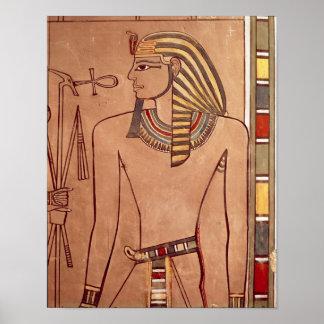 彼の唇に上がるankhとのAmenhotep II ポスター