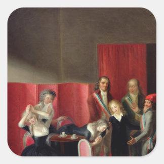 彼の家族、1793年7月3日から取られるDauphin スクエアシール