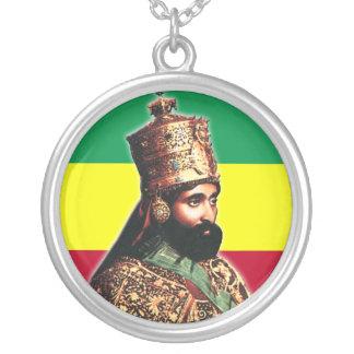彼の帝国皇族皇帝Haile Selassie I シルバープレートネックレス